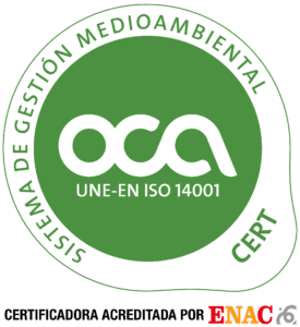 Certificado OCA 2012 14001 ENAC color verde