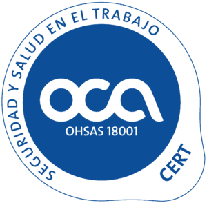 Certificado OCA 2012 OHSAS cast color azul